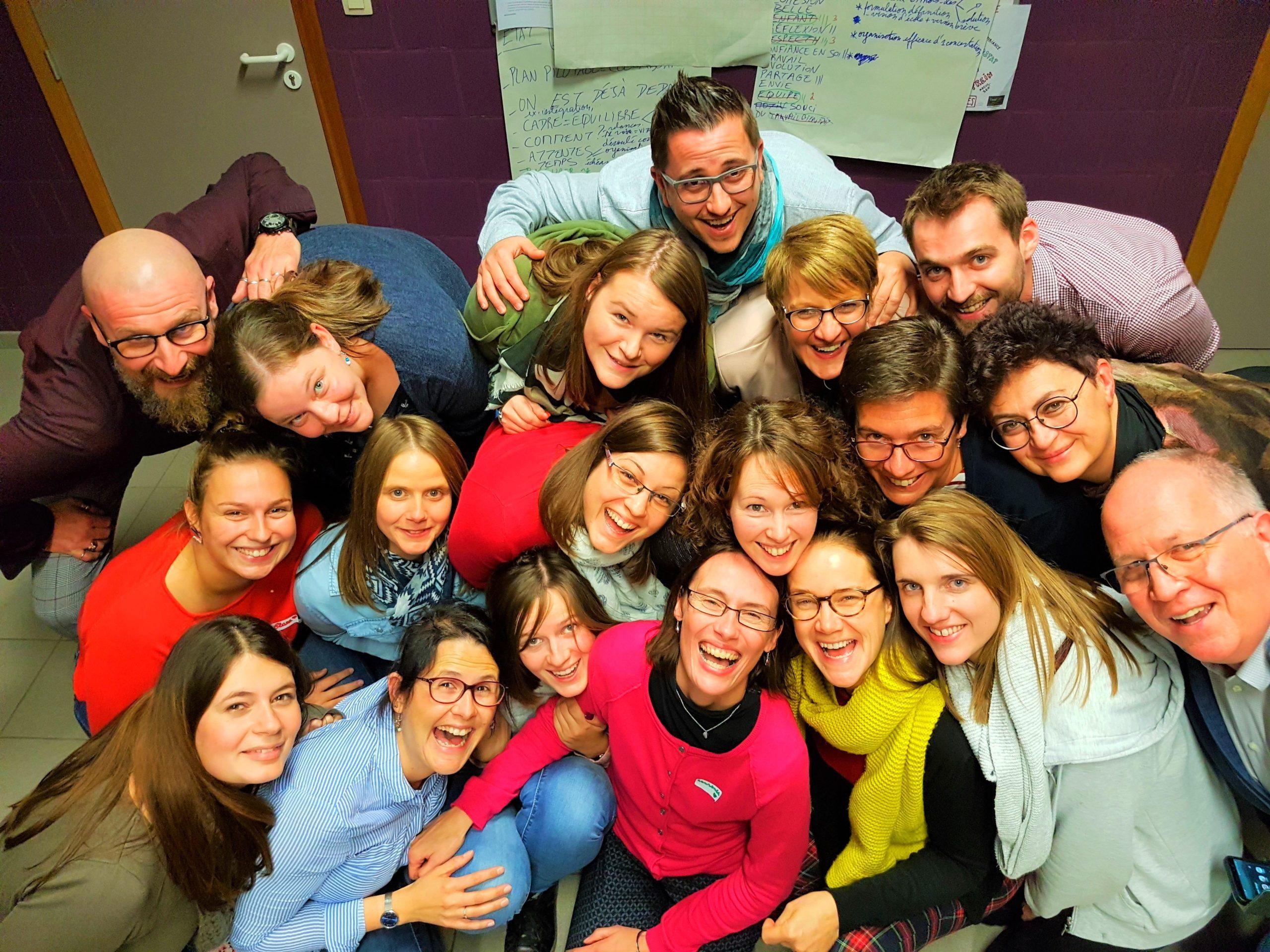 cohésion groupe école Libre Les carrières souriante